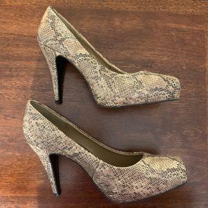 Mossimo Snakeskin Pattern Heels